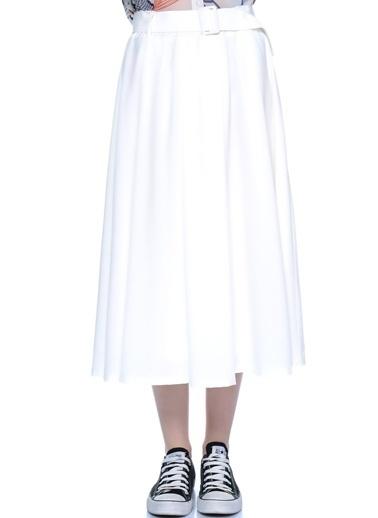 Jovonna Midi Etek Beyaz